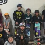 group photo of skaters at the Calgary Skate Park